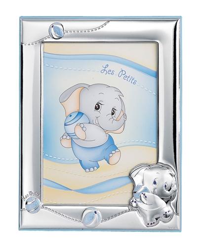 Portafotografie 13X18 con elefantino con palla in celeste