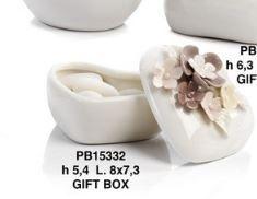 Scatolina con fiori in porcellana  - Mandorle