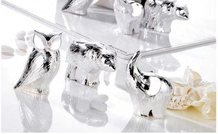 Bomboniera in argento elefantino Prima Comunione - Nozze