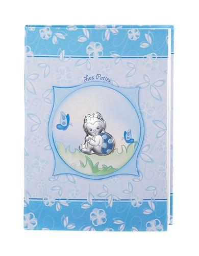 Album portafoto + diario 6 anni con coccinella in azzurro - 22x30cm
