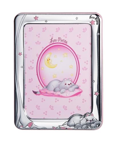 Cornice portafoto 13X18 con gatto e stelline in rosa