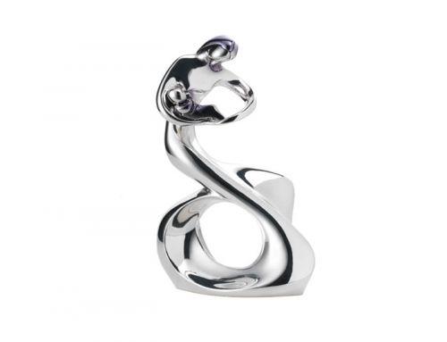 Statua stilizzata maternità d'argento - Bongelli