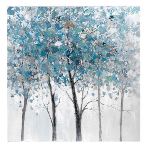 Dipinto albero blu e grigio - L'Oca Nera