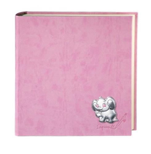 Album portafoto con elefantino e cuoricini in azzurro - 15x20cm
