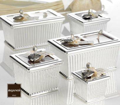 Bomboniera porta candela INGLESE in resina e argento - Argenesi