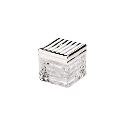 Scatolina piccadilly vetro e argento - Argenesi