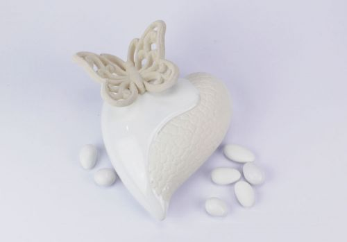 Profumatore cuore bianco farfalla White