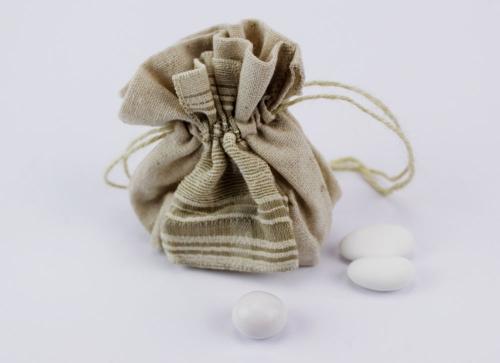 Sacchetto Portaconfetti tela Claraluna - matrimonio / Comunione / Battesimo 2016