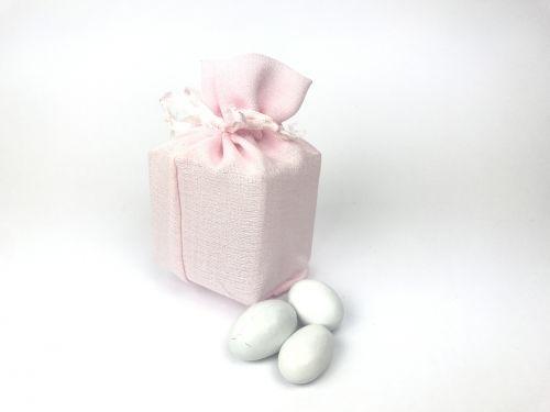 Sacchetto portaconfetti box rosa