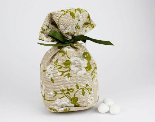 Saccoccino porta confetti verde linea VENEZIA - per Matrimonio o Comunione