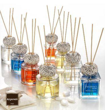 Diffusore FRAGRANCE in cristallo, resina e argento - bomboniera Argenesi