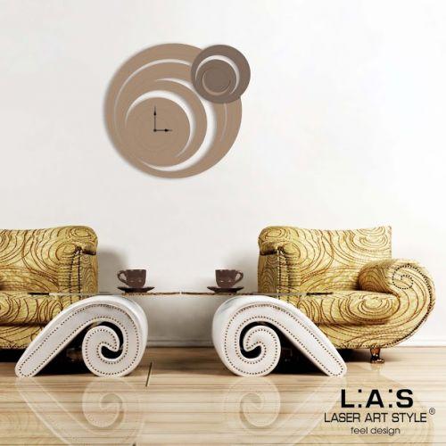 Orologio forma circolare da appendere stilizzato - Laser Art Style