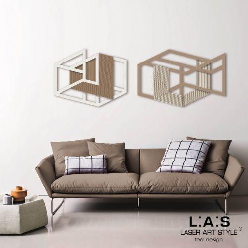 Coppia quadri moderni con disegni geometrici - Laser Art Style