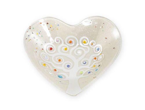 Piatto cuore vetro