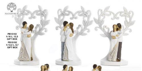Coppia Innamorati con albero - Mandorle