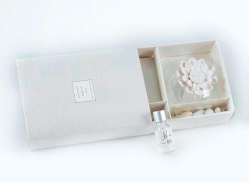 Profumatori d'ambiente gesso fiori + kit fragranza - bomboniera matrimonio