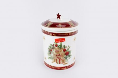 Scatola natalizia in porcellana