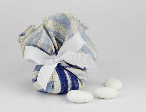 Fazzoletto portaconfetti tema marino linea CAPRI - per nozze, Comunione o nascita bimbo