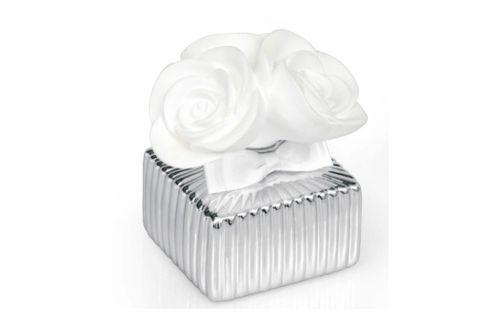 Profumatore con rose rivestito argento bomboniera matrimonio - Memory 2016