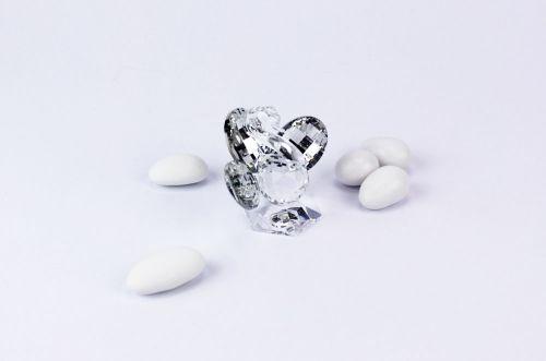 Pavone in cristallo bomboniere