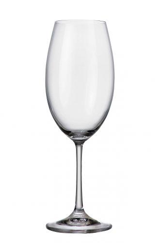 Set 6 bicchieri vino bianco Barbara in cristallo Bohemia