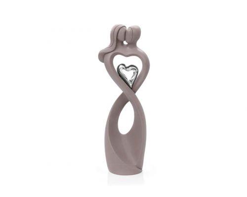 Statua innamorati in argento simbolo infinito - Bongelli