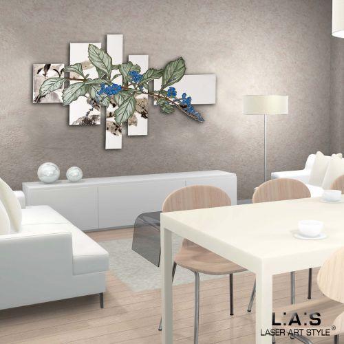 Quadro con fiori di design moderno - Laser Art Style