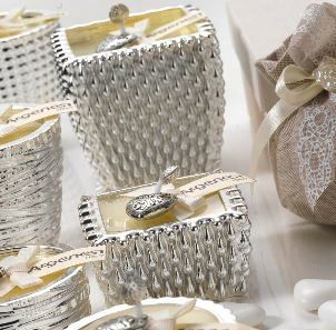 Porta candela SFERE in resina e argento - Bomboniera Argenesi
