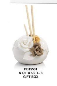 Diffusore con fiori multicolore in porcellana - Mandorle