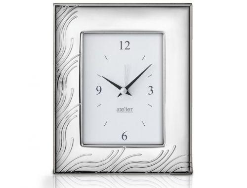 Sveglia linea Wired argentata - Atelier