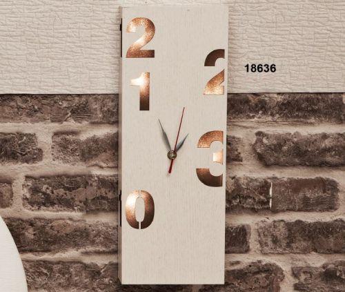 Orologio led in legno
