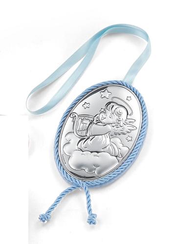 Medaglione per culla - Angelo con arpa