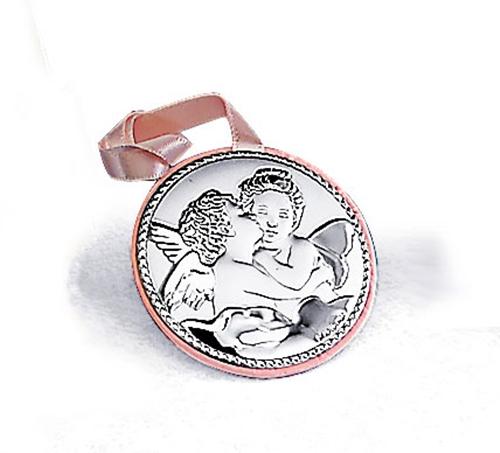 Medaglione per culla tondo - Bacio di angeli