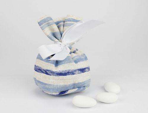 Sacchetto portaconfetti tema marino linea CAPRI - Matrimonio, prima Comunione o nascita bimbo