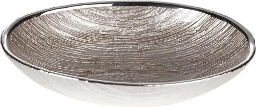 Ciotola piatto GRANITO in argento e vetro nozze - Argenesi