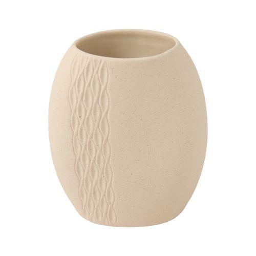Vaso ovale decoro intreccio Stone Wald