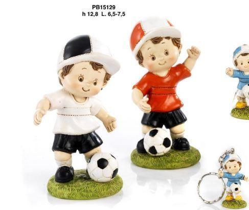 Salvadanaio bimbo e palla da calcio - Mandorle