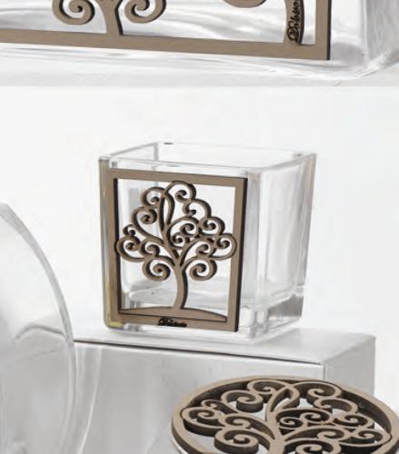 Vasetto in vetro con Albero della vita Adelaide