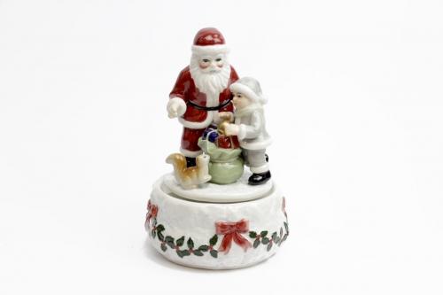 Babbo Natale carillon - porcellana