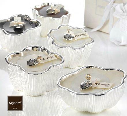 Porta candela FRAGRANCE in resina e argento - Argenesi