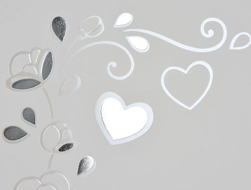Partecipazioni per matrimoni grigio perla cuori