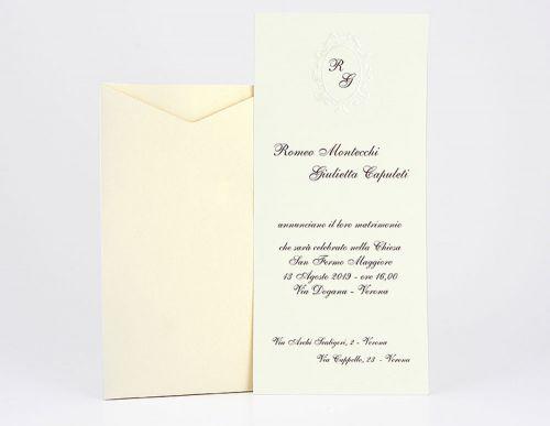 Partecipazioni per matrimonio con iniziali