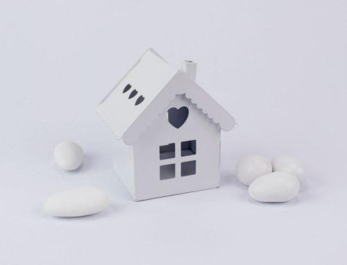 Casetta Lanterna bianca porta confetti - matromonio / comunione