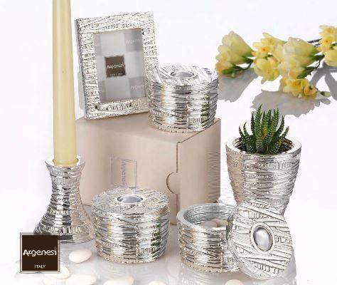 Bomboniera cornice in resina e argento - Argenesi