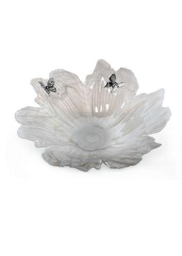 Centrino fiore in cristallo madreperlato con farfalle - Memory 2016