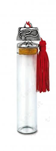 Fiala in vetro con stetofonendoscopio sul tappo - Bomboniera laurea