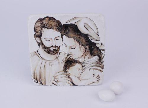 Icona Sacra Famiglia bomboniera prima comunione