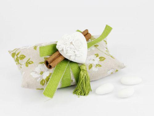 Cuscinetto portaconfetti + cuore Bomboniere per Matrimonio linea VENEZIA - Joel