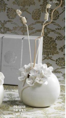 Diffusore fiori bianco - Mandorle