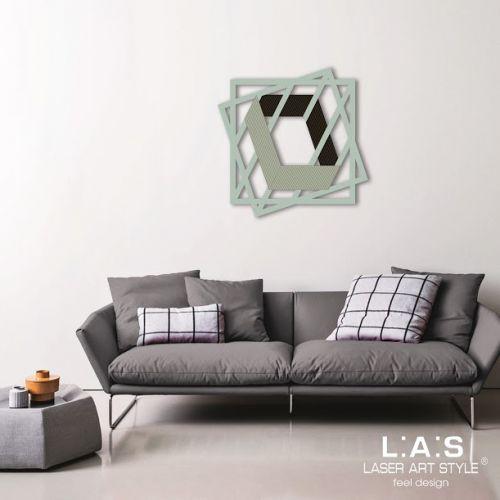 Quadro contemporaneo laser con quadrati effetto 3D con linee geometriche - Laser Art Styl